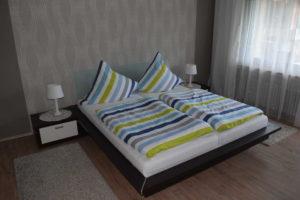 Unsere Ferienwohnung bietet seit neustem 4 Schlafplätze. Zum einen unseren großen Schlafbereich